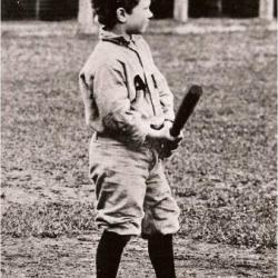 2.James Penfield Seiberling at bat, circa 1905. Source: Stan Hywet Hall & Gardens.