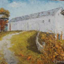 This Seiberling barn is down the road from the Seiberling Farm. Both are on Greenwich Road, Norton - for sale as part of the silent auction.