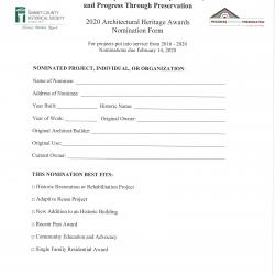 Page 3 of 4 Architectural Heritage Awards application 2020