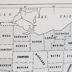 early Ohio map before 1840 - date Summit County is formed