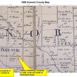 1856 Summit County map