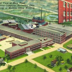7.	Image of the Seiberling Rubber Company on 15th Street NW in Barberton, Ohio, from the 1940s (right). Source: Chapman Family.